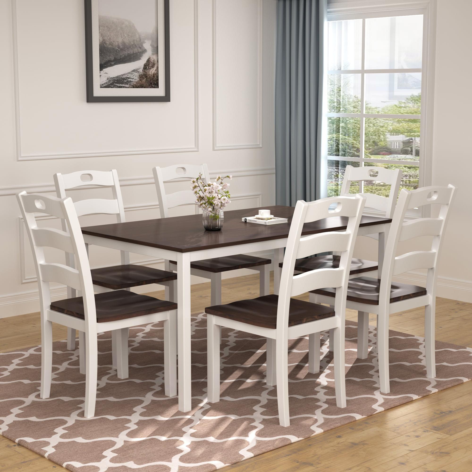 7 قطعه طاوله طعام مجموعه الحديث, 7 Piece Dining Room Set