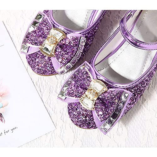 Toddler//Little Kid//Big Kid Amtidy Girls Dress Shoes Mary Jane Wedding Party Shoes Glitter Bridesmaids Princess Heels
