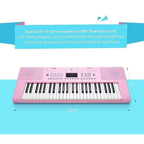 Buy Digital Electric Keyboard Piano, Premium 49-Key Portable