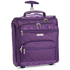 b89bdac6df988 Underseat Women Suitcase Luggage Carry On - Small Rolling Tote Bag with  Wheels