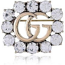 8fecfb382 YIAI Crystal Brooch, Wedding Party Jewelry Flower Brooch Pin for Women