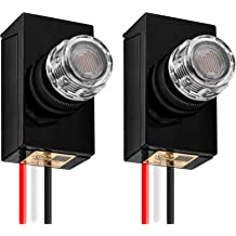 Proshopping AC 120V-277V Twist Lock Photoelectric Switch with Photocell Sensor Receptacle Set for Outdoor Area Street Light Dusk to Dawn Auto Post Eye Photocell Switch and Photo Control Base Kits